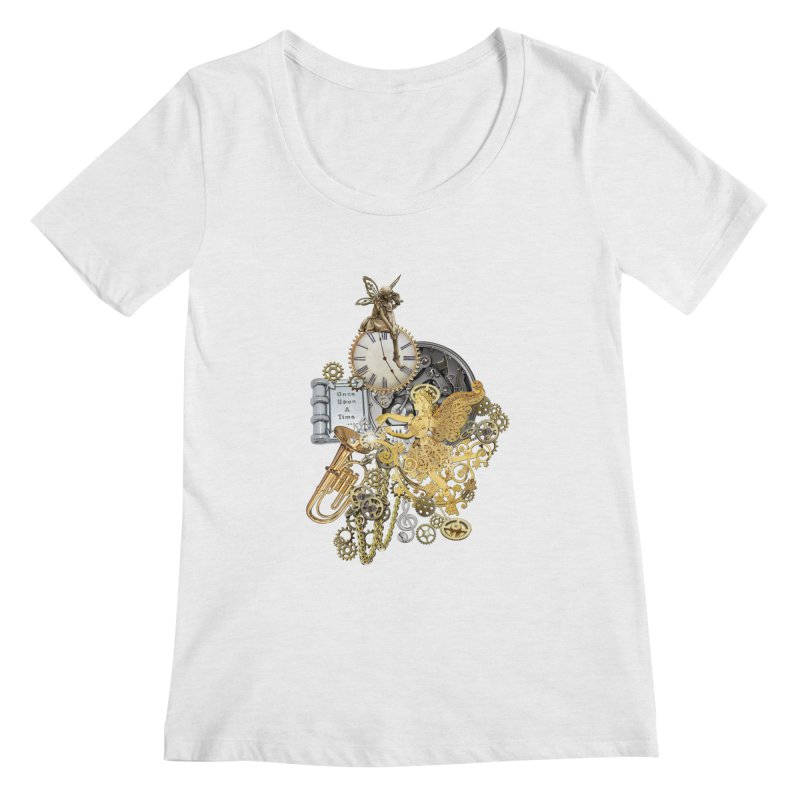 Steampunk-story telling Women's Regular Scoop Neck by NadineMay Artist Shop
