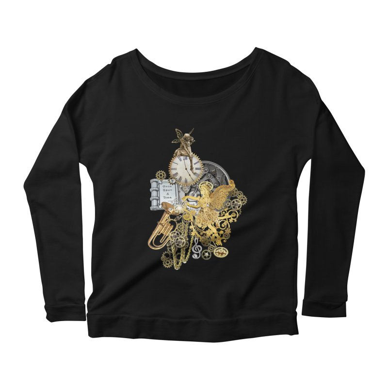 Steampunk-story telling Women's Longsleeve Scoopneck  by NadineMay Artist Shop