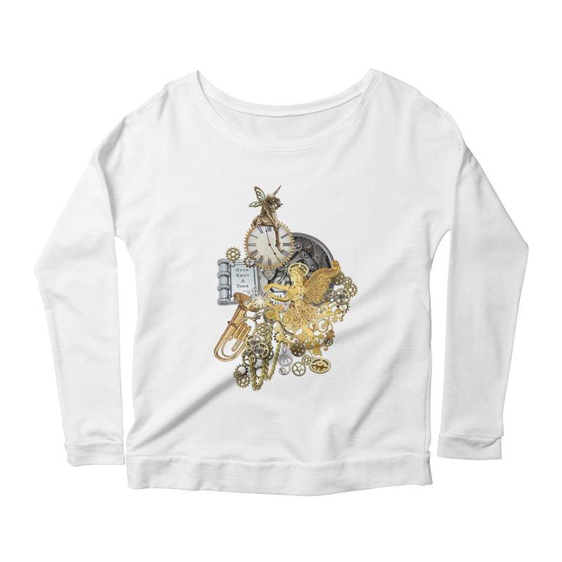 Steampunk-story telling Women's Scoop Neck Longsleeve T-Shirt by NadineMay Artist Shop