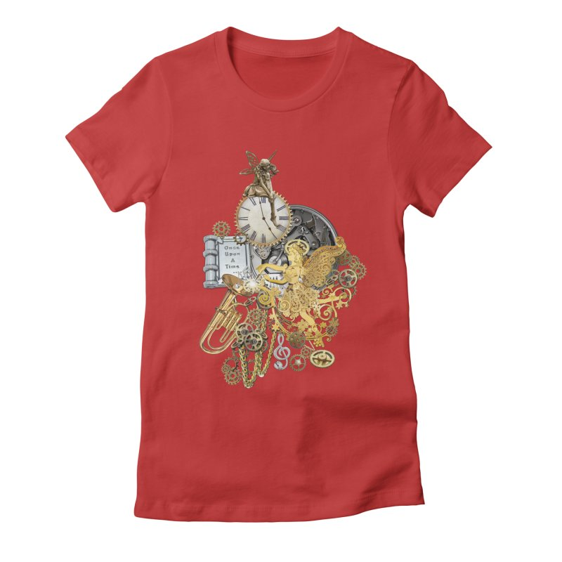 Steampunk-story telling Women's Fitted T-Shirt by NadineMay Artist Shop