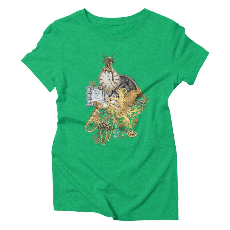 Steampunk-story telling Women's Triblend T-Shirt by NadineMay Artist Shop