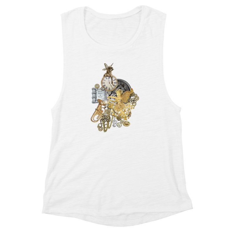 Steampunk-story telling Women's Muscle Tank by NadineMay Artist Shop