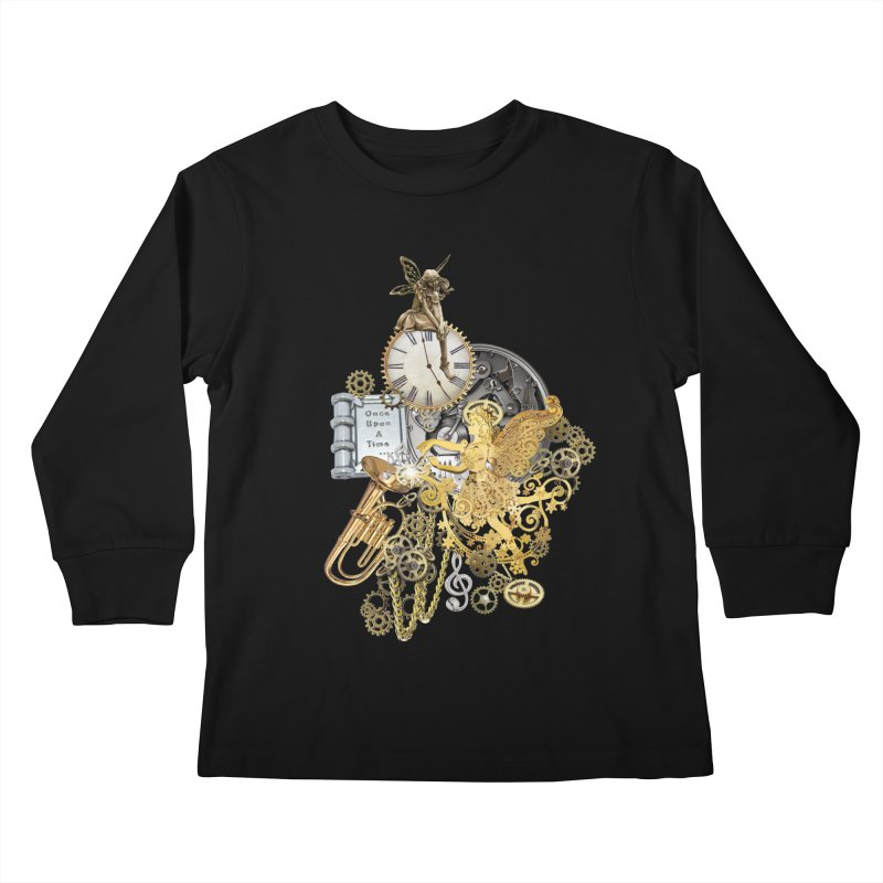 Steampunk-story telling Kids Longsleeve T-Shirt by NadineMay Artist Shop