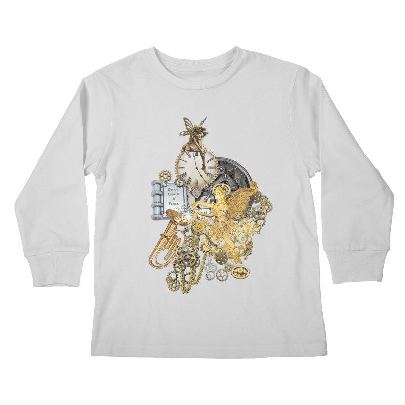 Steampunk-story telling Kids Longsleeve T-Shirt by NadineMay Artist Shop
