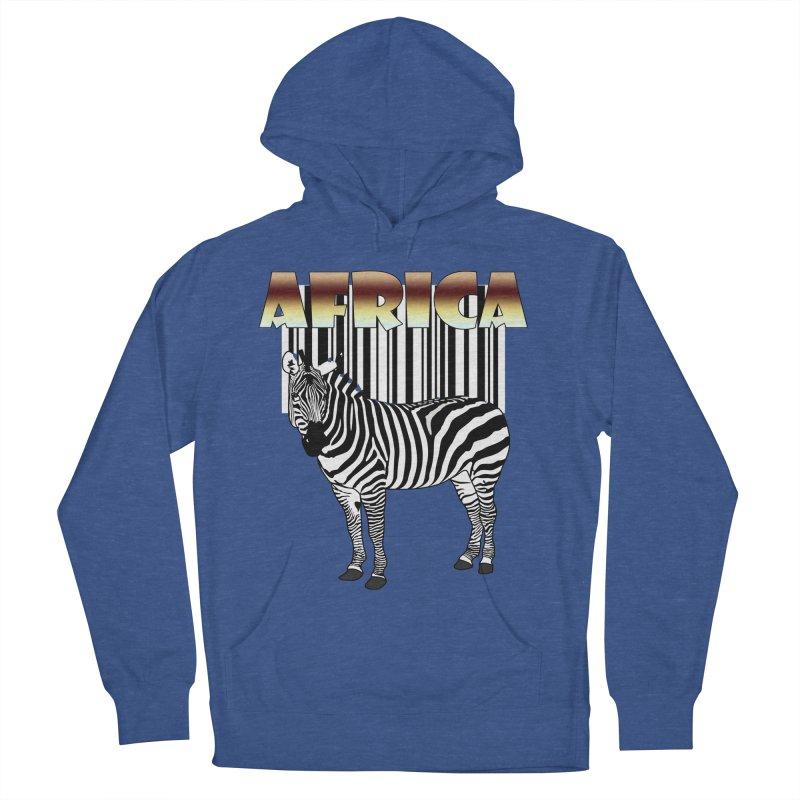 Afrika Zebra barcode Women's Pullover Hoody by NadineMay Artist Shop