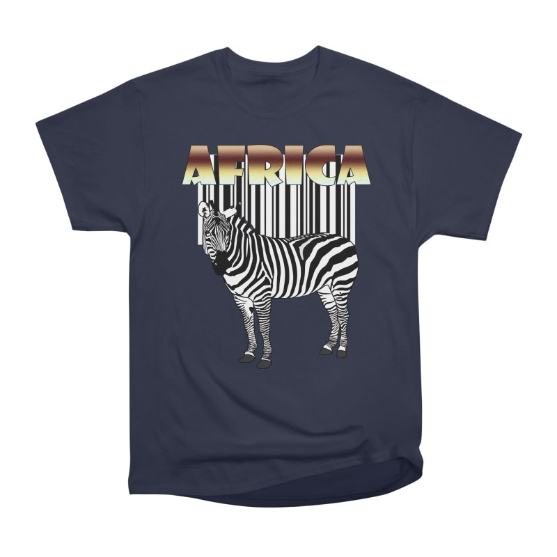 Afrika Zebra barcode Women's Heavyweight Unisex T-Shirt by NadineMay Artist Shop
