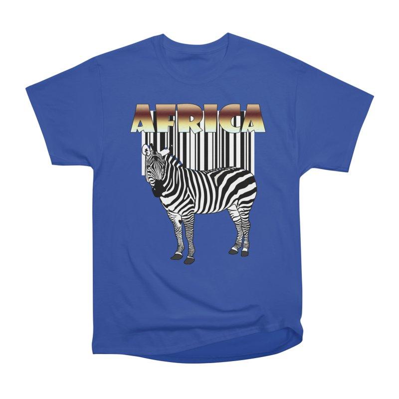 Afrika Zebra barcode Women's Heavyweight Unisex T-Shirt by NadineMay Artist Shop