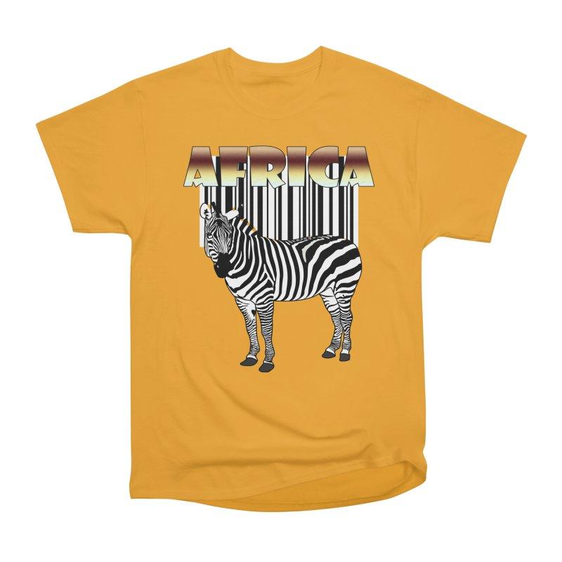 Afrika Zebra barcode Men's Heavyweight T-Shirt by NadineMay Artist Shop