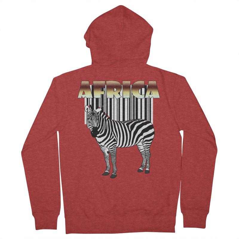 Afrika Zebra barcode Women's Zip-Up Hoody by NadineMay Artist Shop