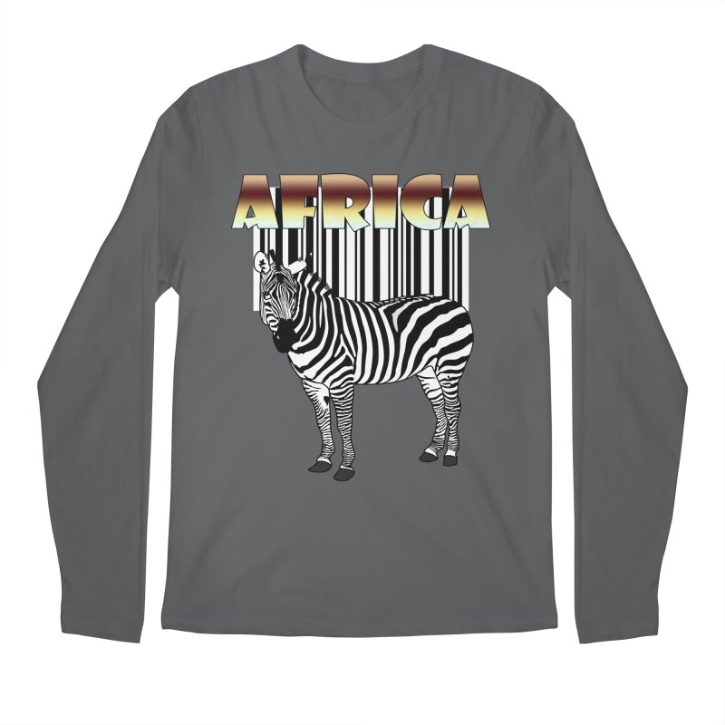 Afrika Zebra barcode Men's Longsleeve T-Shirt by NadineMay Artist Shop
