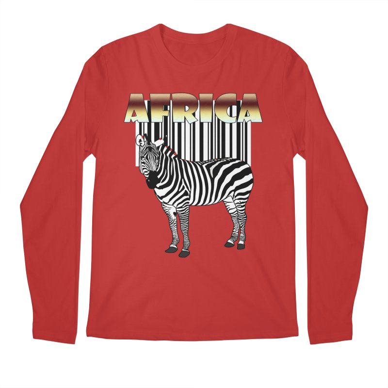 Afrika Zebra barcode Men's Regular Longsleeve T-Shirt by NadineMay Artist Shop