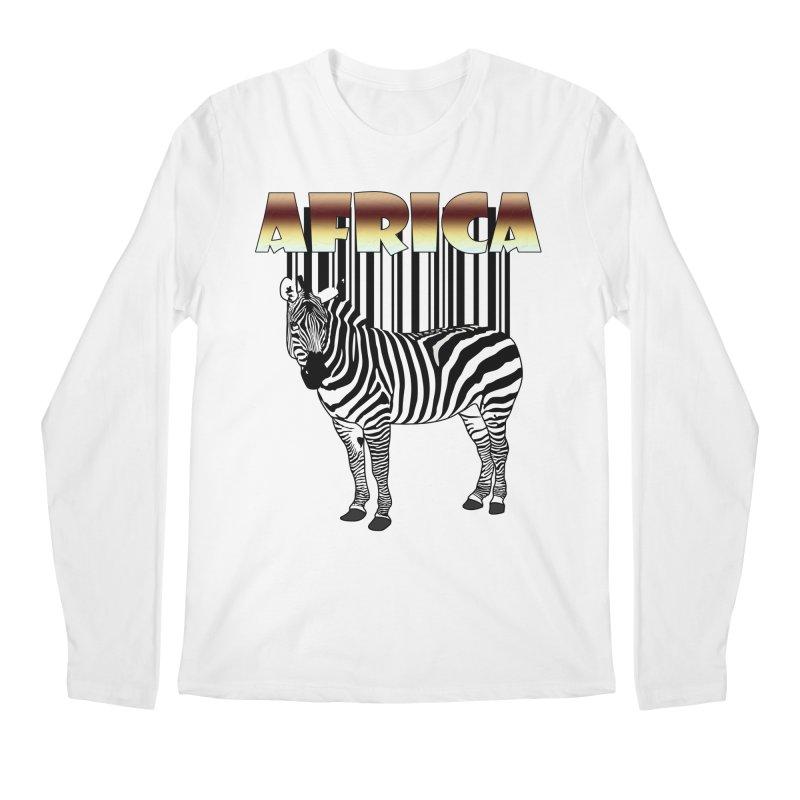 Afrika Zebra barcode Men's Longsleeve T-Shirt by NadineMay Artist Shop