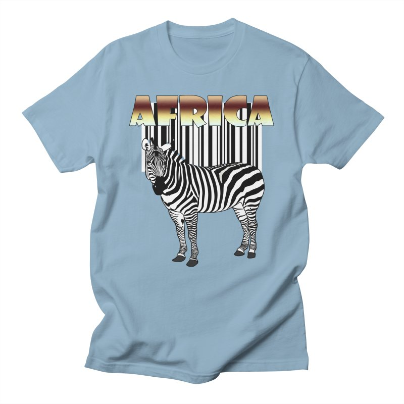 Afrika Zebra barcode Men's Regular T-Shirt by NadineMay Artist Shop