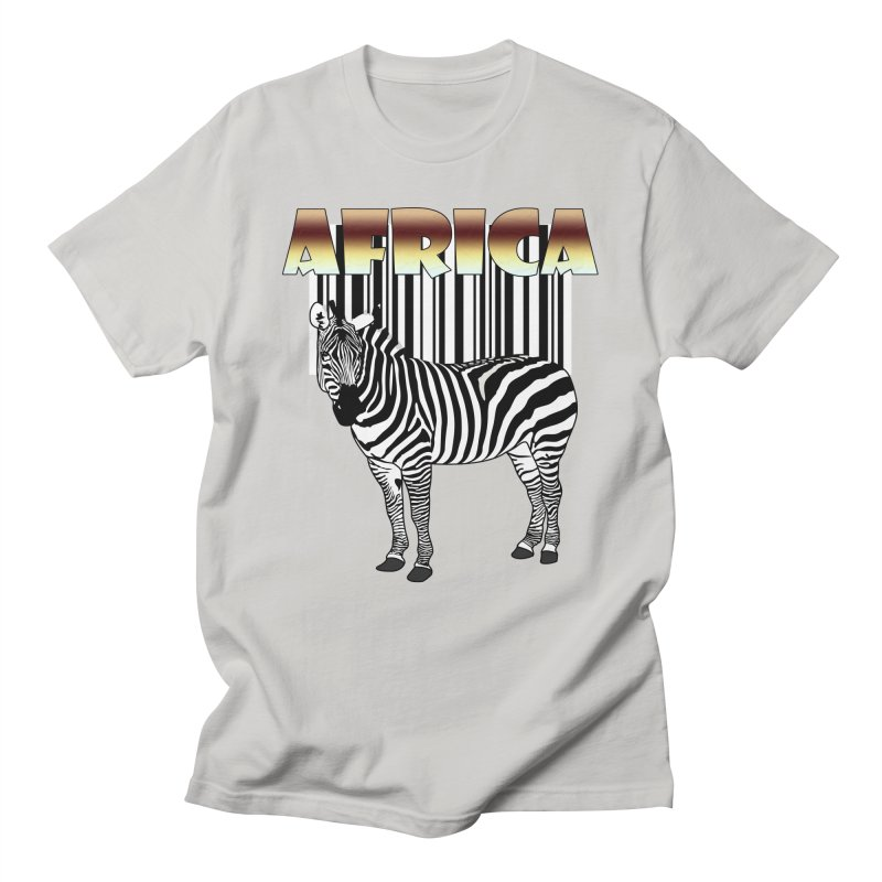 Afrika Zebra barcode Men's T-Shirt by NadineMay Artist Shop