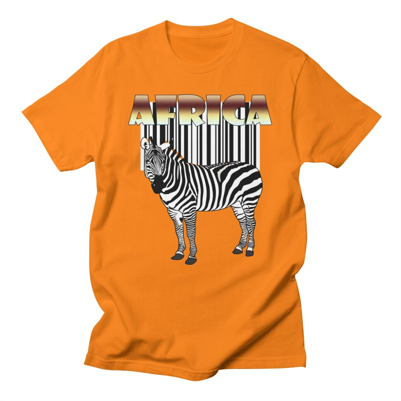 Afrika Zebra barcode Men's Regular T-Shirt by NadineMay Artist Shop