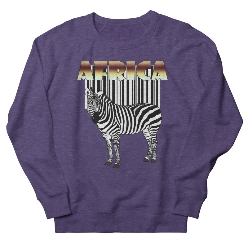 Afrika Zebra barcode Women's Sweatshirt by NadineMay Artist Shop