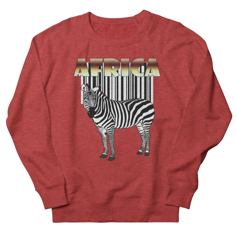 Afrika Zebra barcode Women's French Terry Sweatshirt by NadineMay Artist Shop
