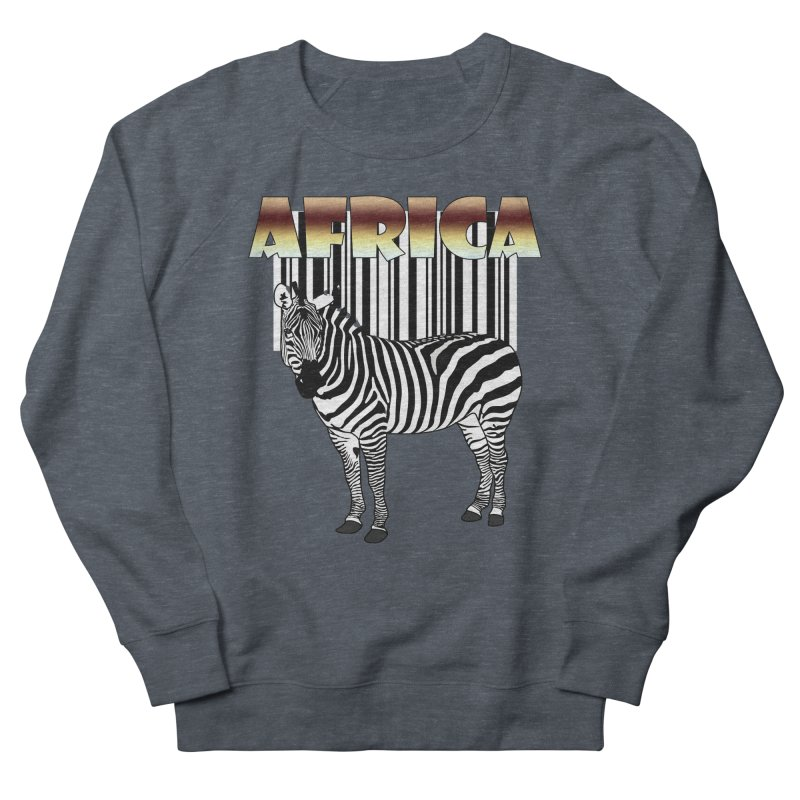 Afrika Zebra barcode Men's Sweatshirt by NadineMay Artist Shop