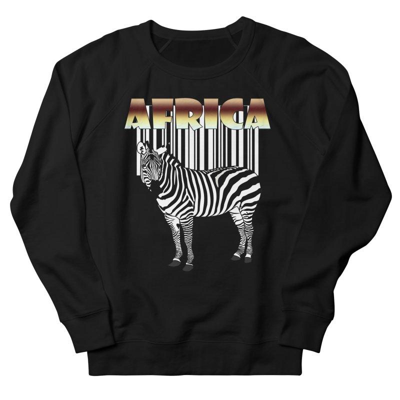 Afrika Zebra barcode Men's French Terry Sweatshirt by NadineMay Artist Shop