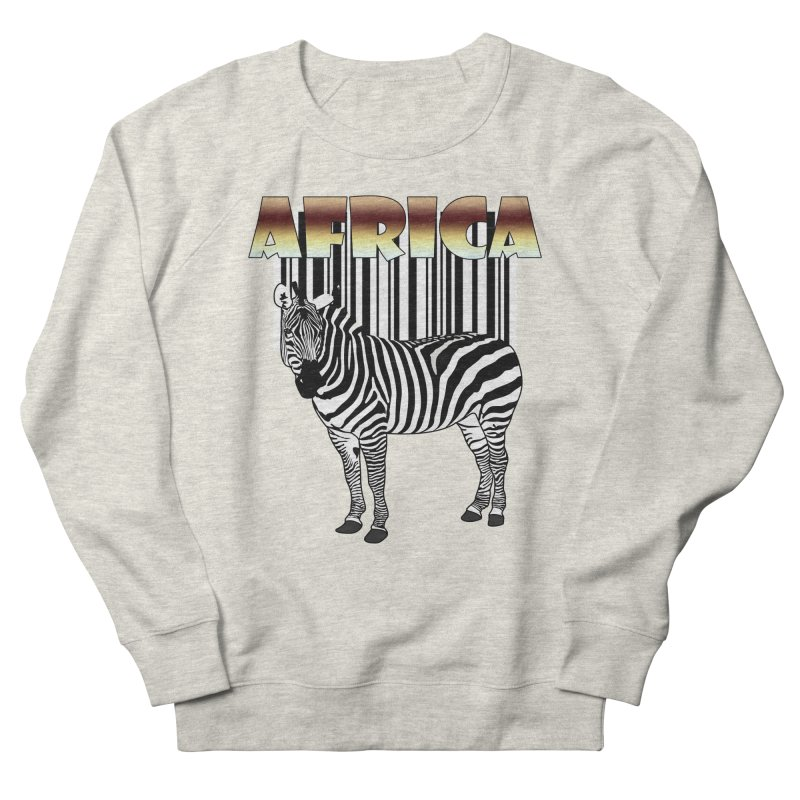 Afrika Zebra barcode Men's Sweatshirt by NadineMay Artist Shop