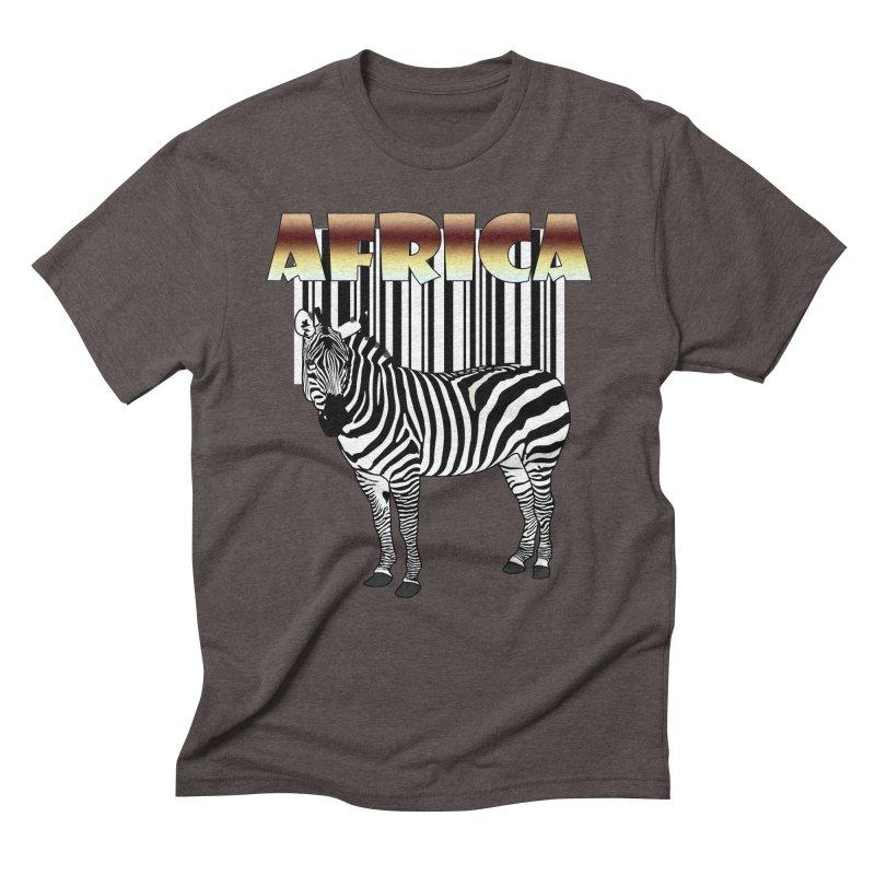 Afrika Zebra barcode Men's Triblend T-Shirt by NadineMay Artist Shop