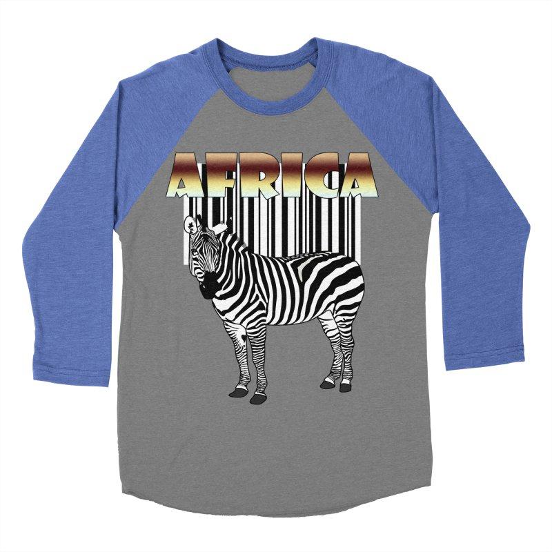 Afrika Zebra barcode Women's Baseball Triblend T-Shirt by NadineMay Artist Shop