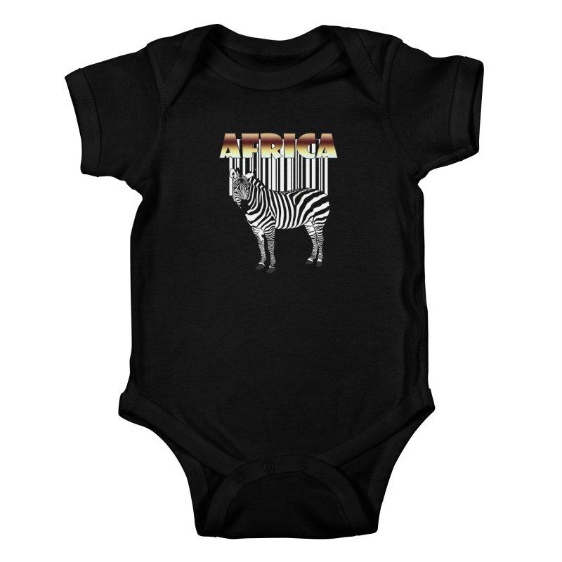 Afrika Zebra barcode Kids Baby Bodysuit by NadineMay Artist Shop