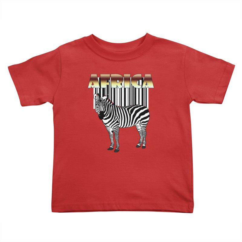 Afrika Zebra barcode Kids Toddler T-Shirt by NadineMay Artist Shop