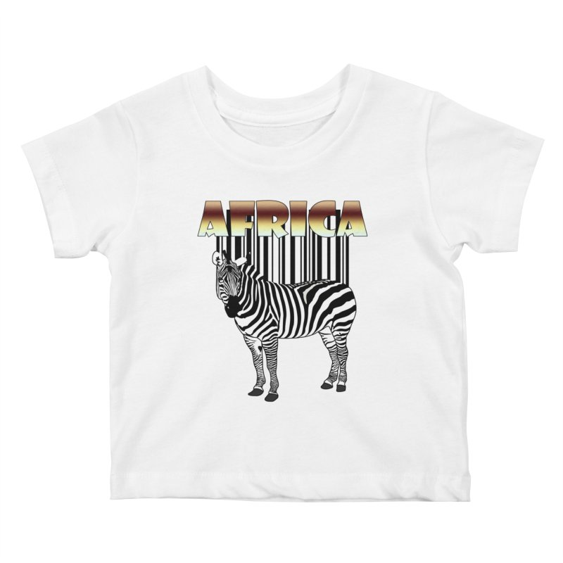 Afrika Zebra barcode Kids Baby T-Shirt by NadineMay Artist Shop