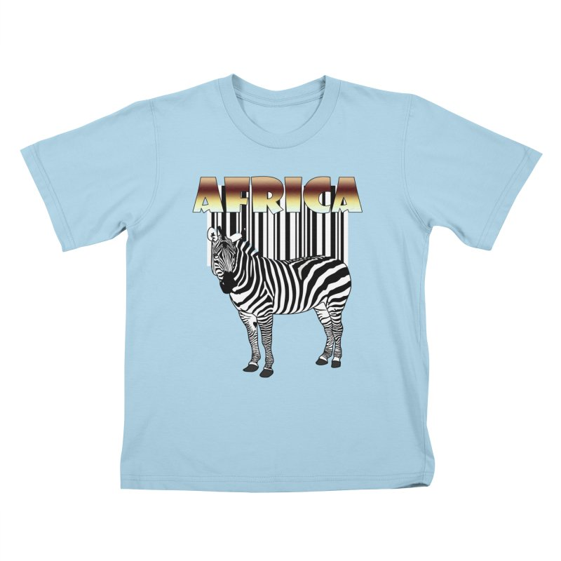 Afrika Zebra barcode Kids T-Shirt by NadineMay Artist Shop
