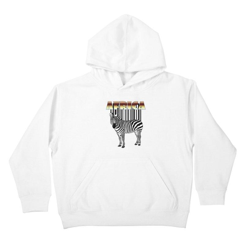 Afrika Zebra barcode Kids Pullover Hoody by NadineMay Artist Shop