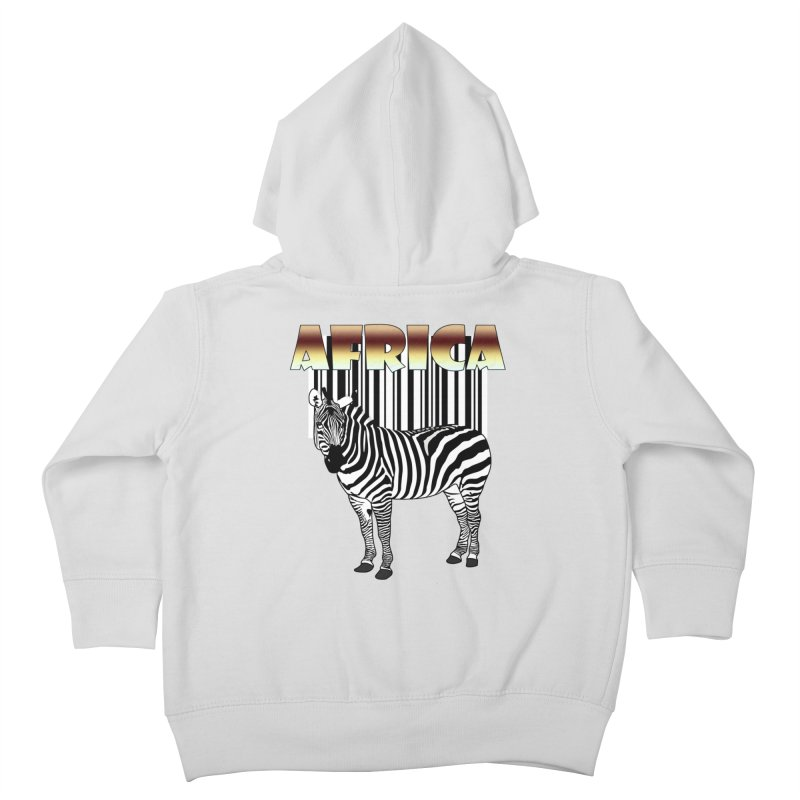 Afrika Zebra barcode Kids Toddler Zip-Up Hoody by NadineMay Artist Shop