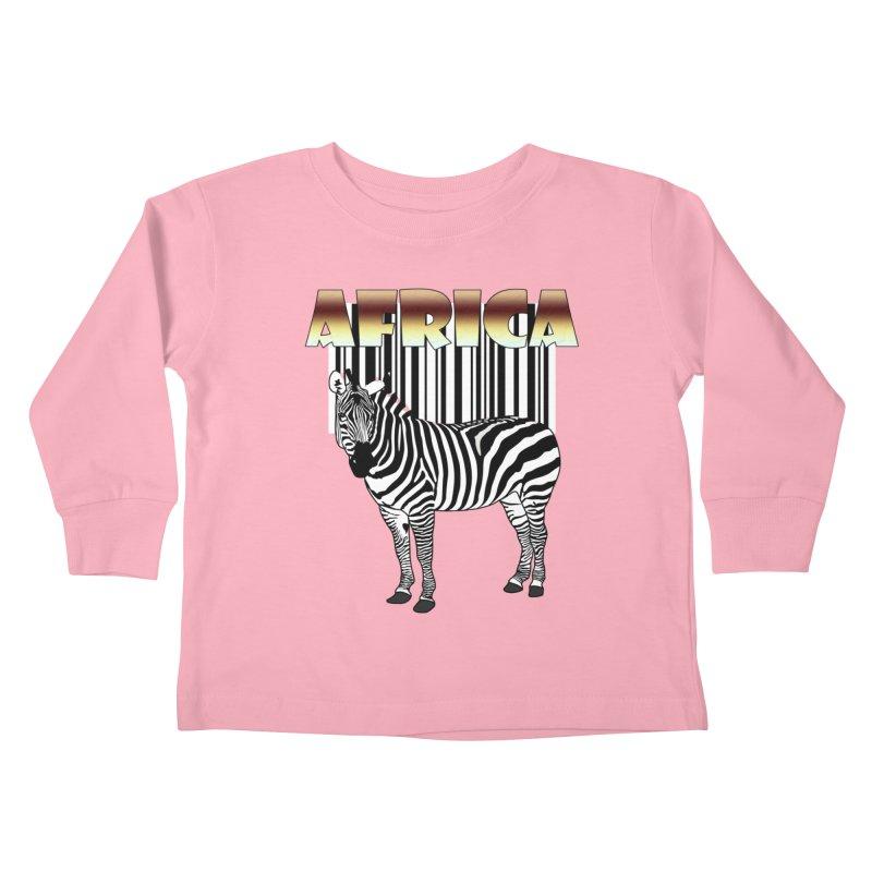 Afrika Zebra barcode Kids Toddler Longsleeve T-Shirt by NadineMay Artist Shop