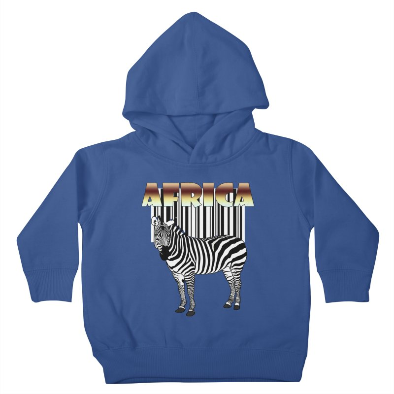 Afrika Zebra barcode Kids Toddler Pullover Hoody by NadineMay Artist Shop