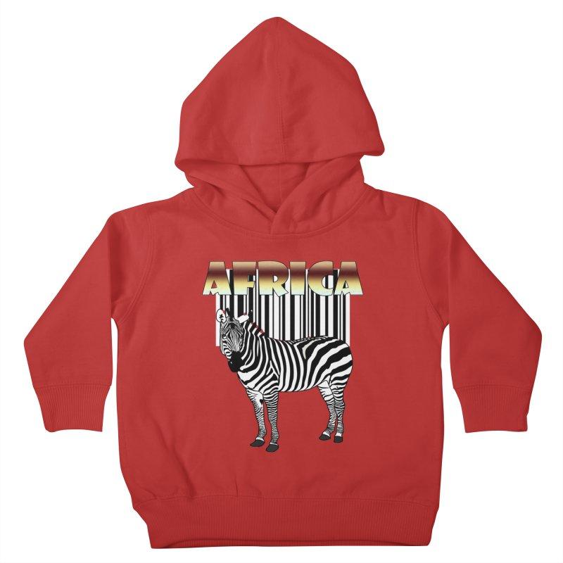 Afrika Zebra barcode Kids Toddler Pullover Hoody by NadineMay Artist Shop