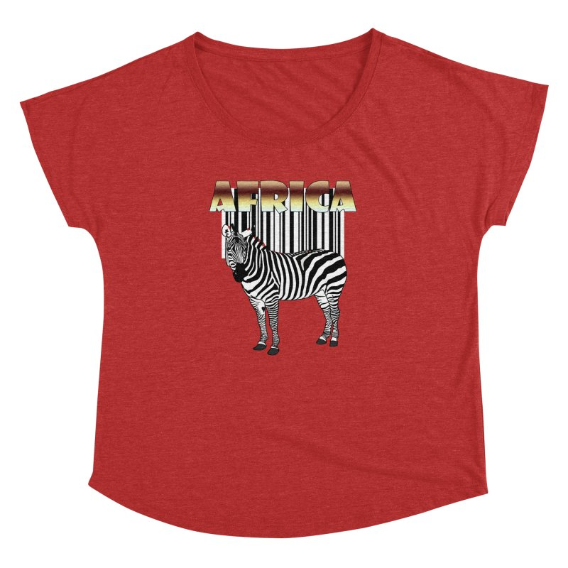 Afrika Zebra barcode Women's Dolman Scoop Neck by NadineMay Artist Shop