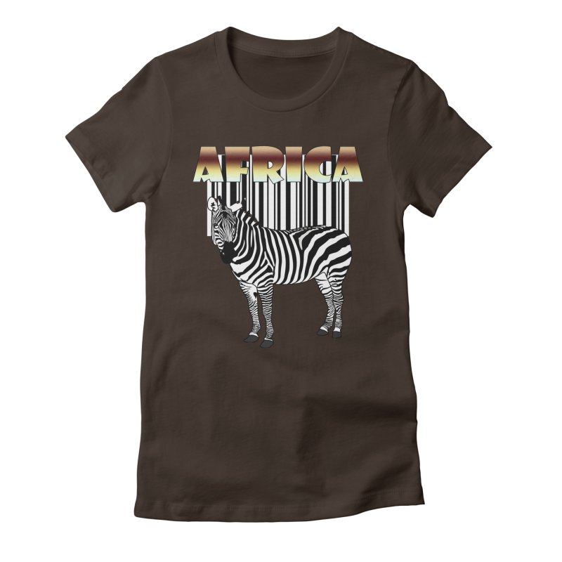 Afrika Zebra barcode Women's Fitted T-Shirt by NadineMay Artist Shop