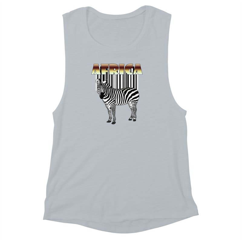 Afrika Zebra barcode Women's Muscle Tank by NadineMay Artist Shop