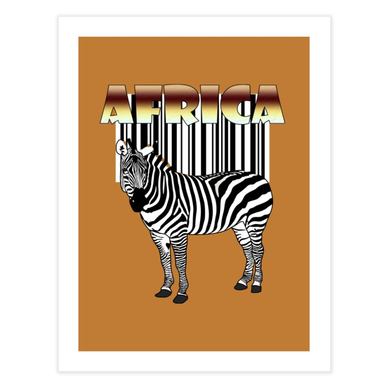 Afrika Zebra barcode Home Fine Art Print by NadineMay Artist Shop