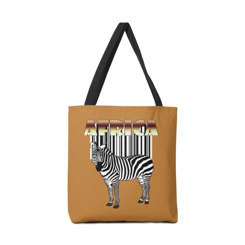 Afrika Zebra barcode Accessories Bag by NadineMay Artist Shop