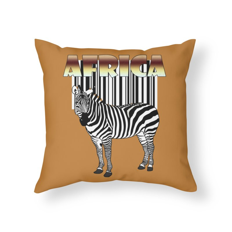 Afrika Zebra barcode Home Throw Pillow by NadineMay Artist Shop