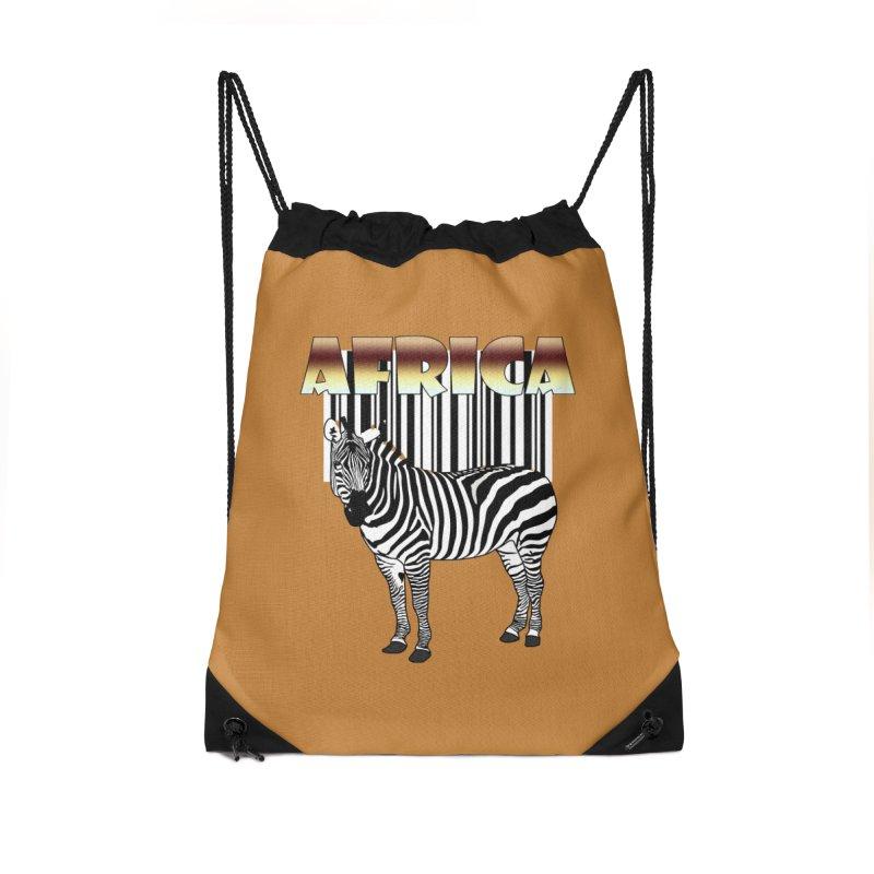 Afrika Zebra barcode Accessories Drawstring Bag Bag by NadineMay Artist Shop