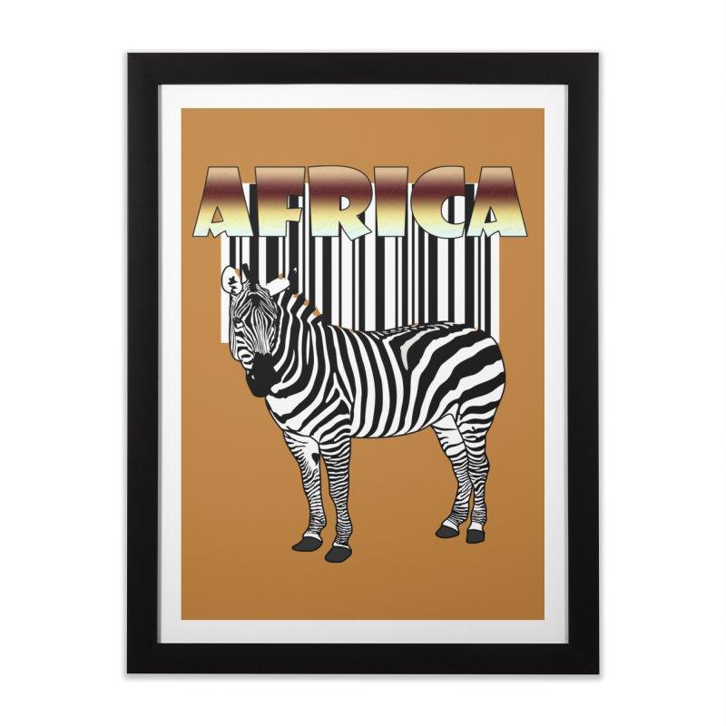 Afrika Zebra barcode Home Framed Fine Art Print by NadineMay Artist Shop