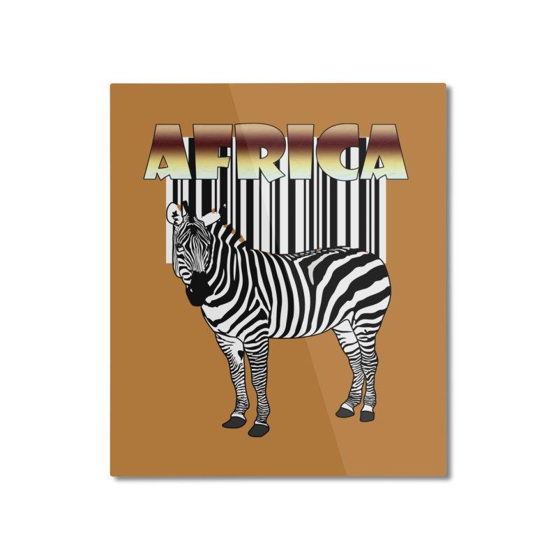 Afrika Zebra barcode Home Mounted Aluminum Print by NadineMay Artist Shop