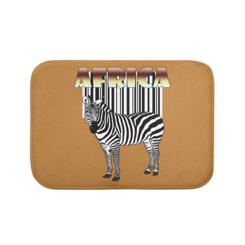 Afrika Zebra barcode Home Bath Mat by NadineMay Artist Shop