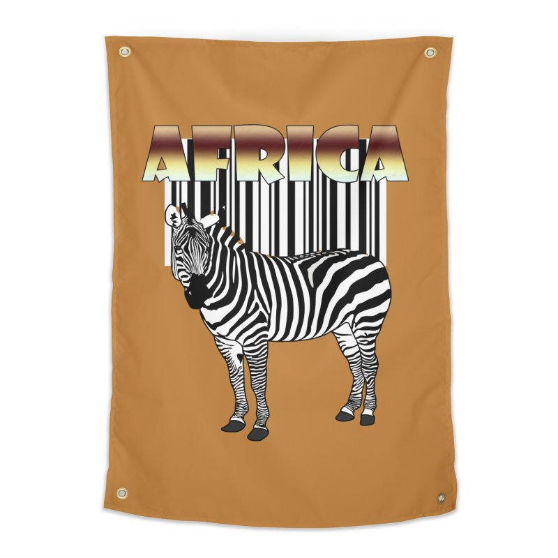 Afrika Zebra barcode Home Tapestry by NadineMay Artist Shop
