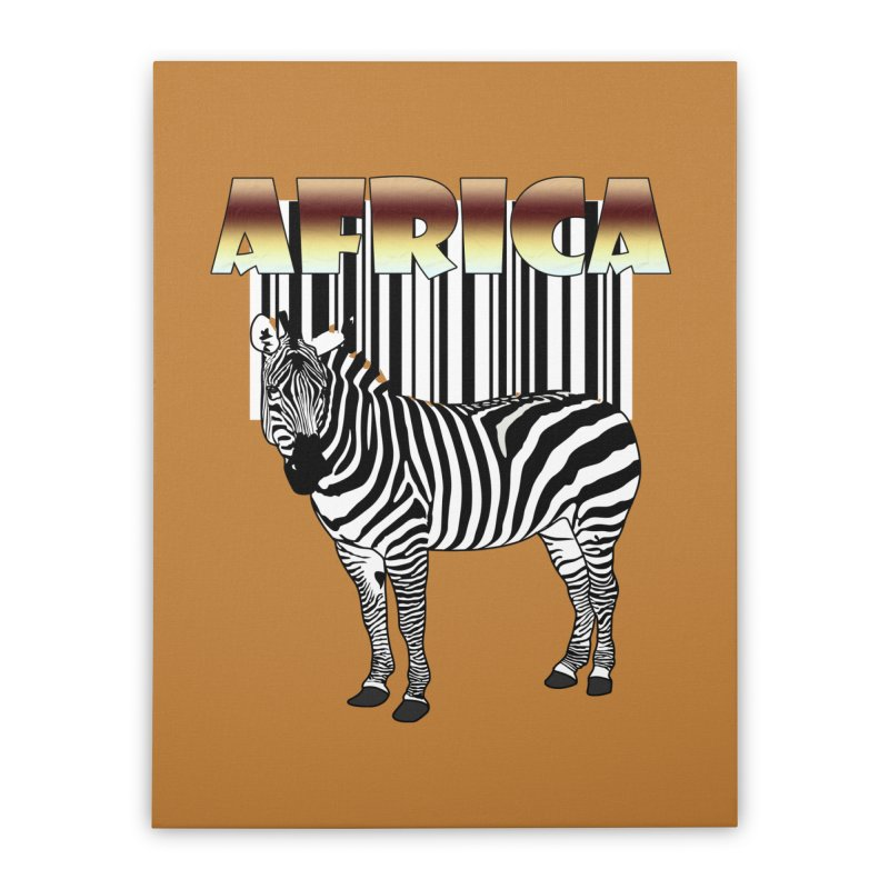 Afrika Zebra barcode Home Stretched Canvas by NadineMay Artist Shop