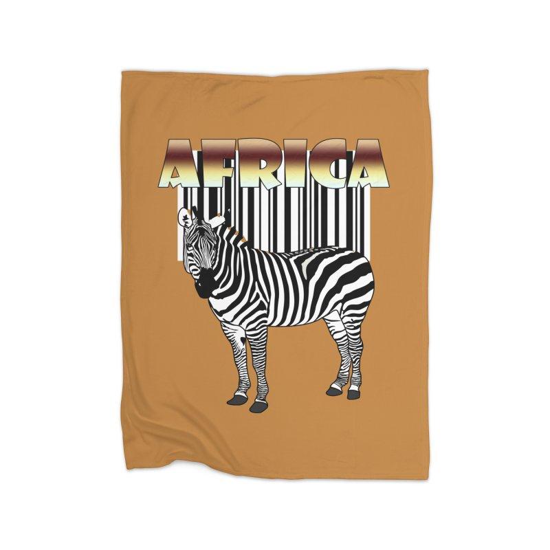 Afrika Zebra barcode Home Blanket by NadineMay Artist Shop