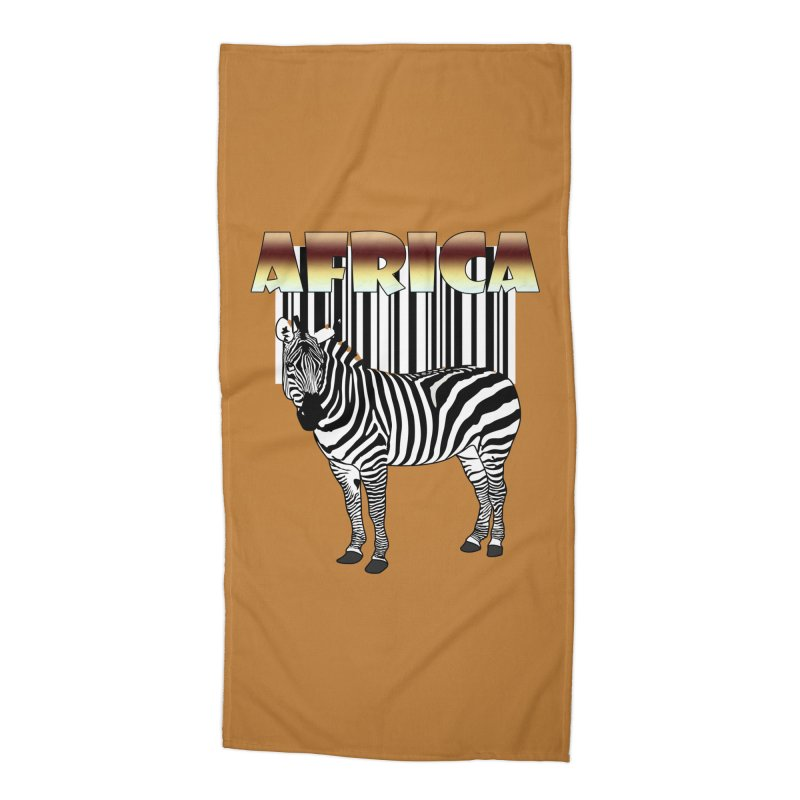 Afrika Zebra barcode Accessories Beach Towel by NadineMay Artist Shop