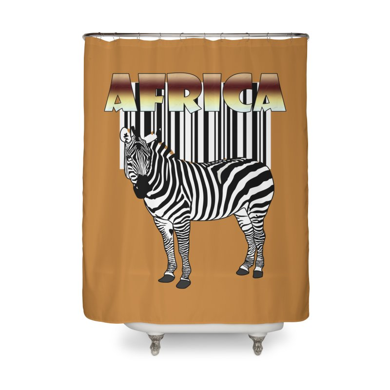 Afrika Zebra barcode Home Shower Curtain by NadineMay Artist Shop